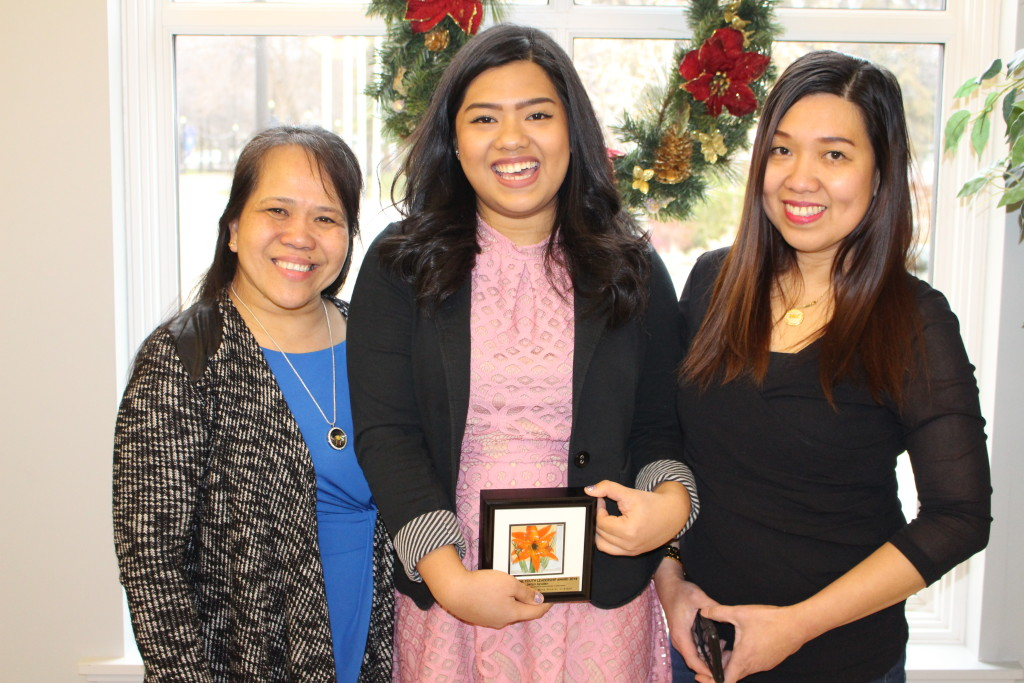 The 2016 Multicultural Youth Leadership Award recipient is Jellyn Ayudan who also received a $500 reward from SGEU. While still in high school, Jellyn is already active in all five streams of multicultural work. She is pictured here with her high school mentor and family.