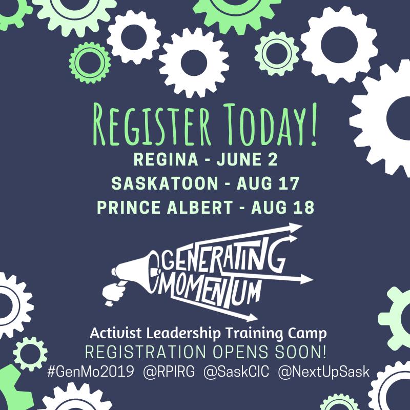 Generating Momentum Activist Leadership Camp - Prince Albert